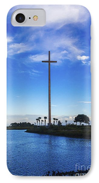 The Cross Marks The Spot IPhone Case by Diane Macdonald