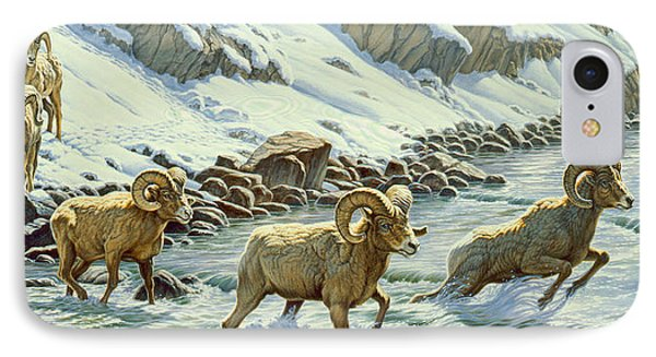 The Crossing - Bighorn IPhone Case by Paul Krapf