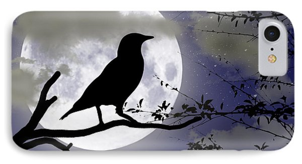 The Crow And Moon Phone Case by Brian Wallace