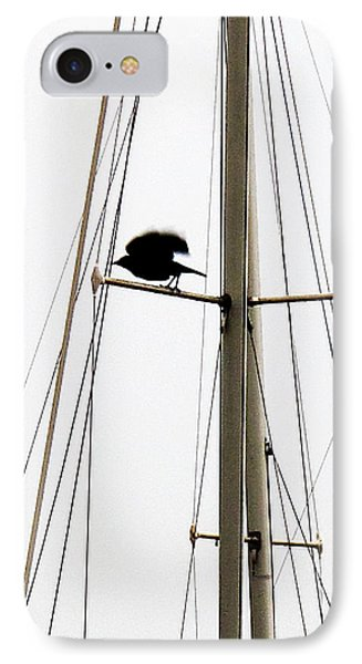 IPhone Case featuring the photograph The Crow Leaving The Absent Crows Nest by John King