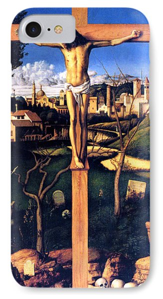 IPhone Case featuring the painting The Crucifixion 1503 Giovanni Bellini by Karon Melillo DeVega