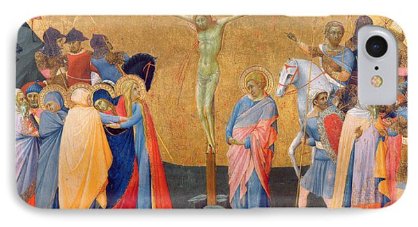 The Crucifixion Phone Case by Master of the Madonna of San Pietro of Ovila