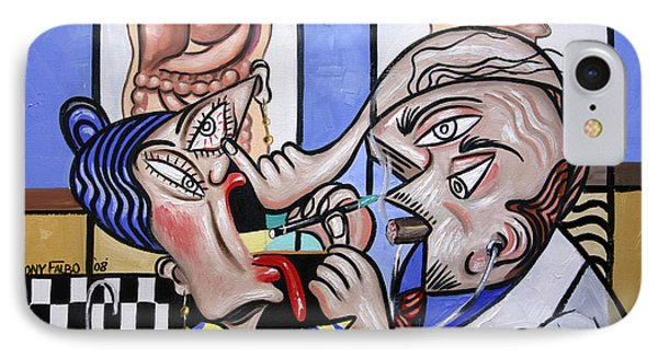 The Cubist Doctor Md IPhone Case by Anthony Falbo