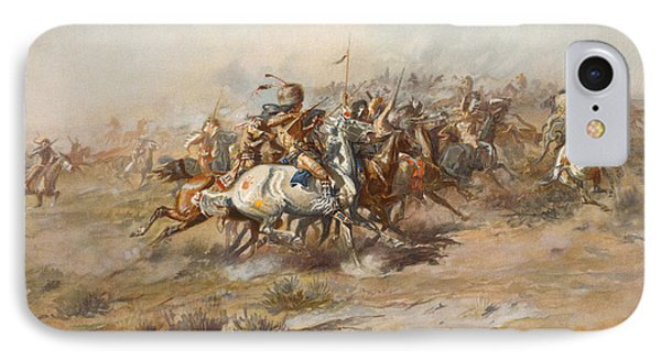 The Custer Fight  IPhone Case by War Is Hell Store