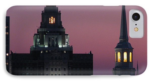The Customs Building And Christ Church IPhone Case by Christopher Woods