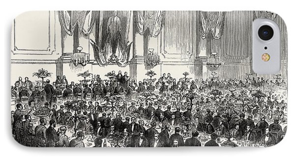 The Cutlers Feast At Sheffield, Uk Banquet In The Cutlers IPhone Case by English School