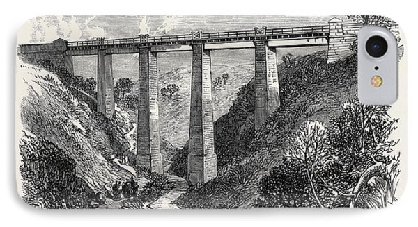 The Daff Viaduct Of The Greenock And Wemyss Bay Railway 1866 IPhone Case by English School