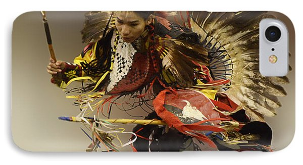 Pow Wow The Dance IPhone Case by Bob Christopher