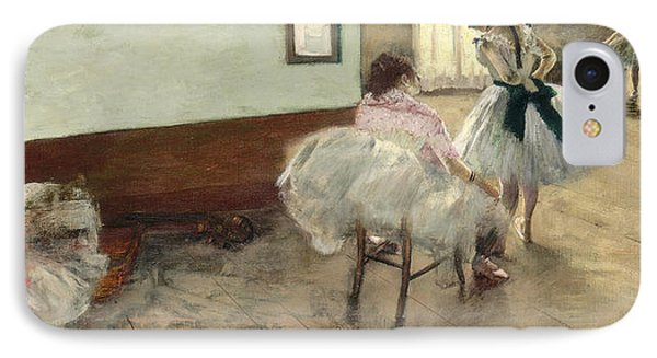The Dance Lesson IPhone Case by Edgar Degas