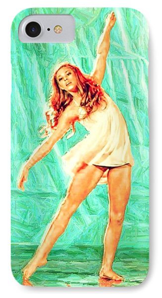 IPhone Case featuring the digital art The Dancer by Carrie OBrien Sibley