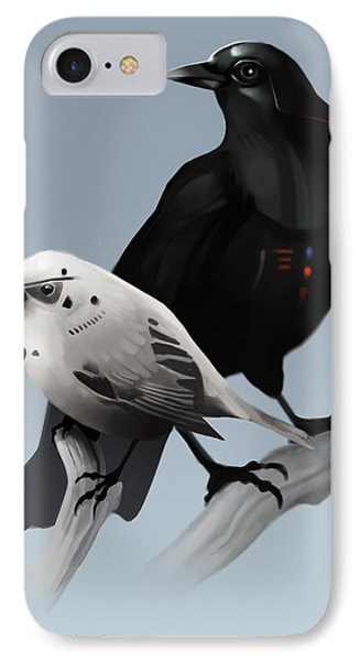 IPhone Case featuring the painting The Dark Side Of The Flock by Michael Myers