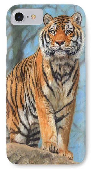 The Dartmoor Tiger IPhone Case by David Stribbling