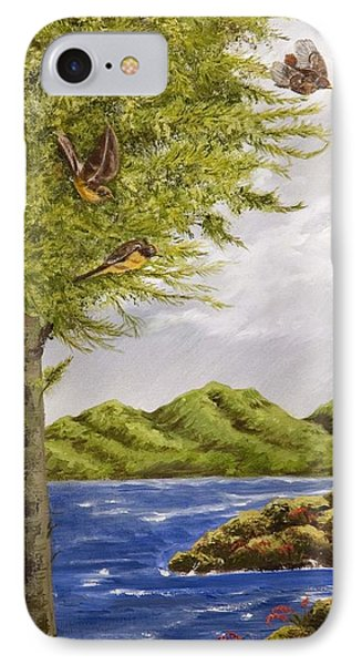 The Day Of The Robins IPhone Case by Susan Culver