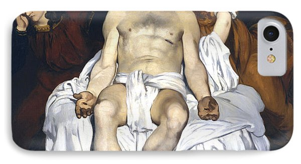 The Dead Christ With Angels Phone Case by Edouard Manet