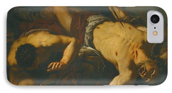 The Death Of Ajax IPhone Case by Antonio Zanchi