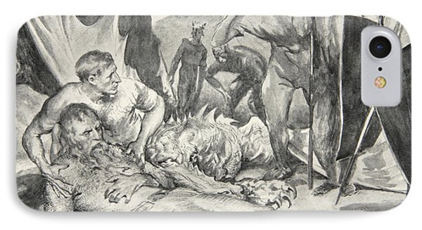 The Death Of Beowulf Phone Case by John Henry Frederick Bacon