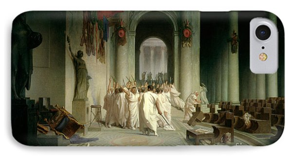 The Death Of Caesar IPhone Case by Jean Leon Gerome