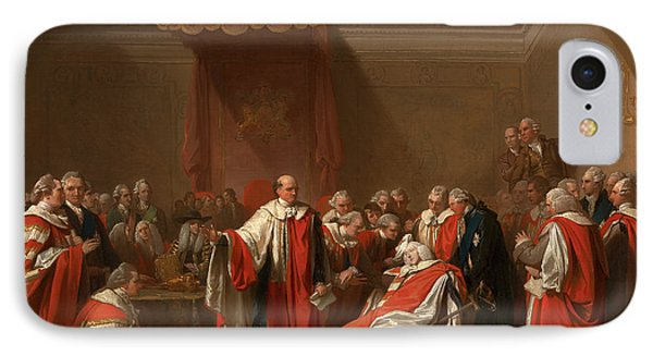 The Death Of Chatham The Death Of The Earl Of Chatham IPhone Case by Litz Collection