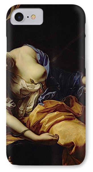 The Death Of Cleopatra Oil On Canvas IPhone Case by Antoine Rivalz