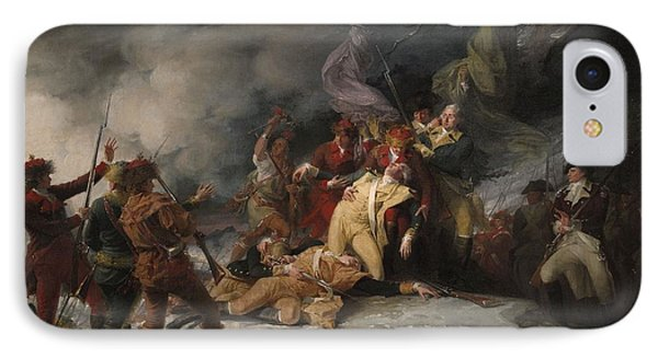 The Death Of General Montgomery In The Attack On Quebec, December 31, 1775, 1786 Oil On Canvas IPhone Case by John Trumbull