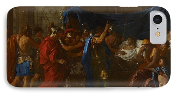 The Death Of Germanicus IPhone Case by Nicolas Poussin