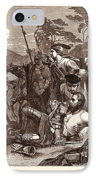 The Death Of Marmion. Scott IPhone Case by Armitage, Edward (1817-96), English