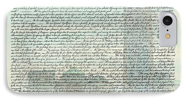 The Declaration Of Independence - Freedom Tower IPhone Case by Stephen Stookey
