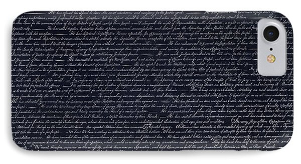 The Declaration Of Independence In Negative  Phone Case by Rob Hans