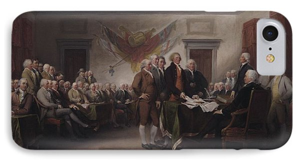 The Declaration Of Independence, July 4, 1776 IPhone Case by John Trumbull