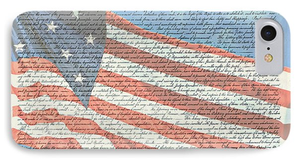 The Declaration Of Independence - Star-spangled Banner IPhone Case by Stephen Stookey