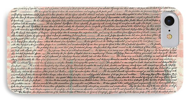 The Declaration Of Independence IPhone Case by Stephen Stookey