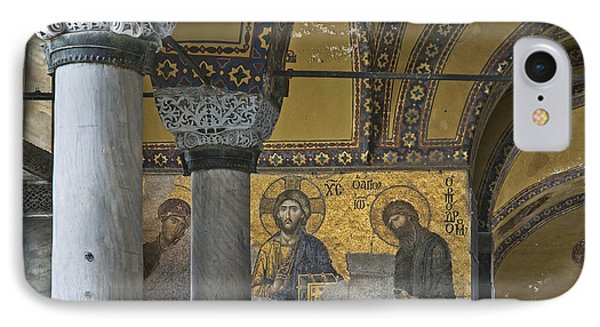 The Deesis Mosaic At Hagia Sophia Phone Case by Ayhan Altun
