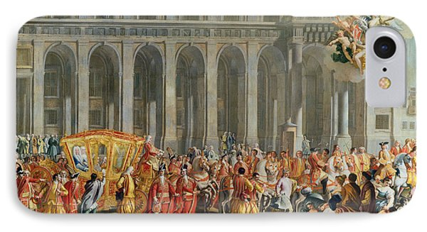 The Departure Of Alois Thomas Von Harrach, Viceroy Of Naples 1669-1742 From The Palazzo Reale Di IPhone Case
