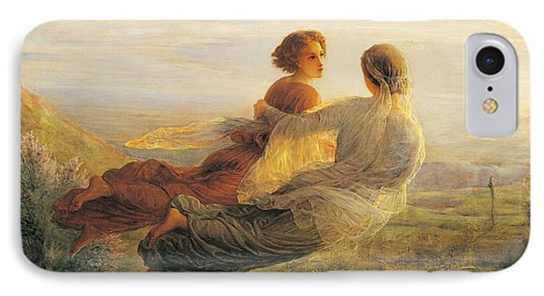 The Departure Of The Soul IPhone Case by Louis Janmot