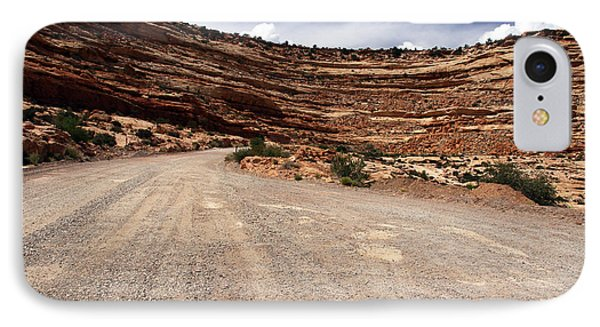 The Descent Moki Dugway. IPhone Case by Butch Lombardi