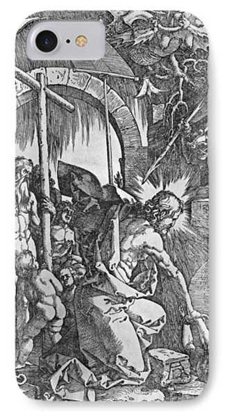 The Descent Of Christ Into Limbo Phone Case by Albrecht Duerer