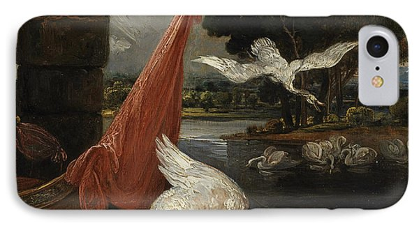 The Descent Of The Swan, Illustration Phone Case by James Ward
