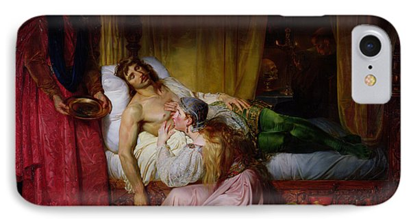The Devotion Of Princess Sybille, 1832 Oil On Canvas IPhone Case by Felix Auvray