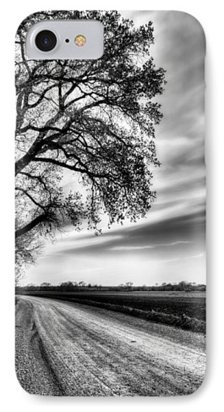 The Dirt Road In Black And White Phone Case by JC Findley