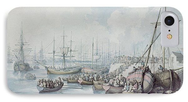 The Disembarkation Of The Royalists Of Toulon At Southampton In 1794 IPhone Case