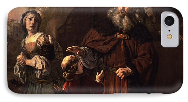 The Dismissal Of Hagar, 1650 IPhone Case by Jan Victors
