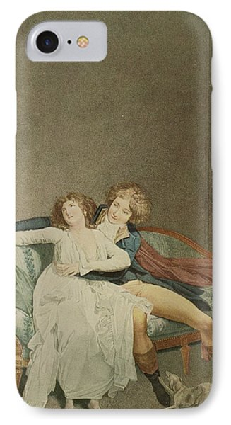 The Dispute Of The Rose, Engraving IPhone Case by Louis Leopold Boilly