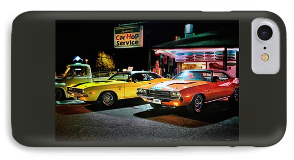 The Dodge Boys - Cruise Night At The Sycamore Phone Case by Thomas Schoeller