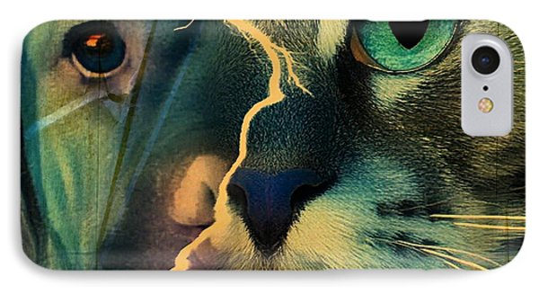 The Dog Connection -green IPhone Case