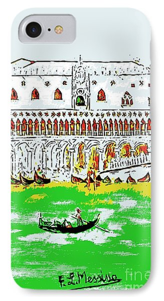IPhone Case featuring the painting The Doge's Palace by Loredana Messina