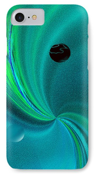 IPhone Case featuring the painting  Dolphin Kiss by Yul Olaivar
