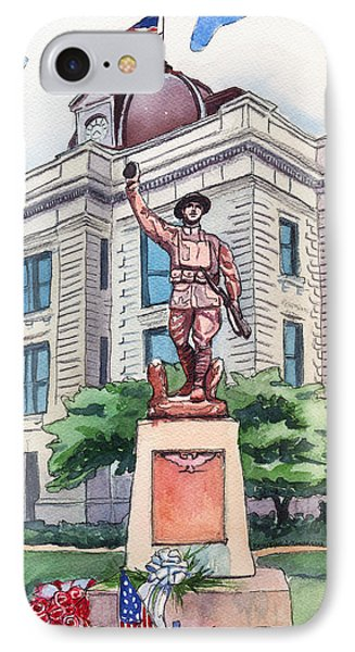 IPhone Case featuring the painting The Doughboy Statue by Katherine Miller