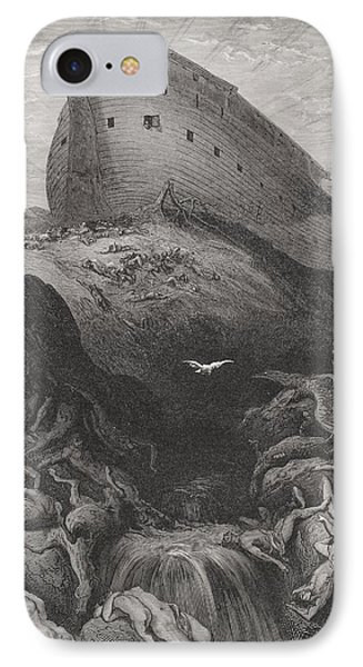 The Dove Sent Forth From The Ark IPhone Case by Gustave Dore