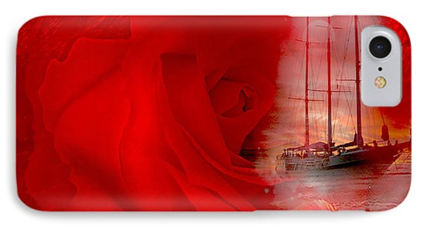 IPhone Case featuring the digital art The Dreaming Rose - Fantasy Art By Giada Rossi by Giada Rossi
