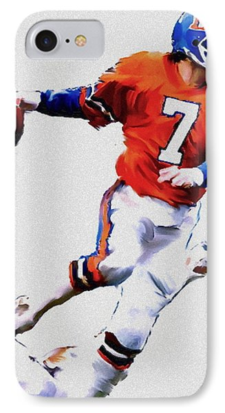 The Drive  John Elway Phone Case by Iconic Images Art Gallery David Pucciarelli